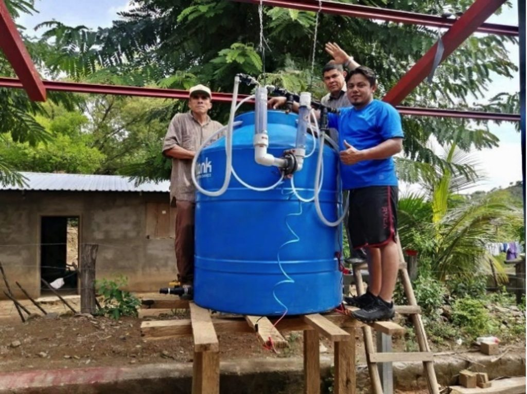 Water Purification System placed at remote location in South America